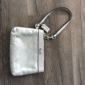 Coach wristlet pale green